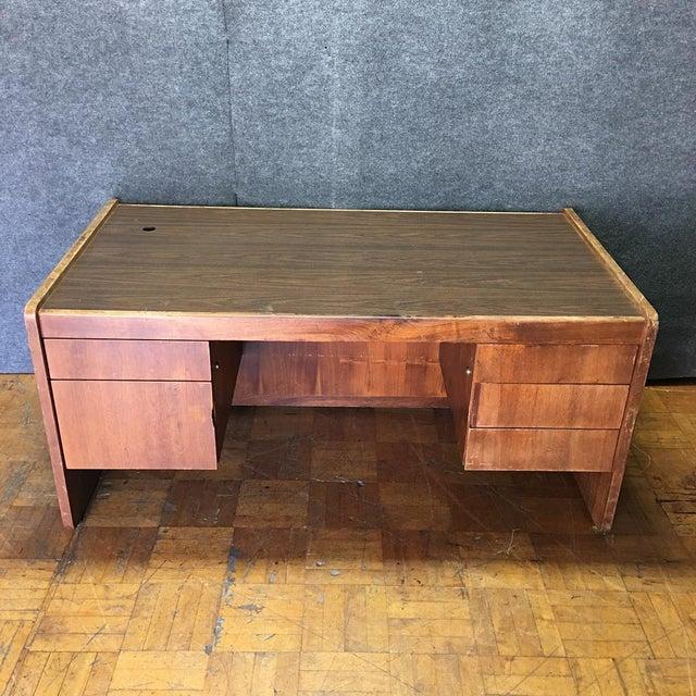 Vintage Modern Executive Desk - Image 3 of 10