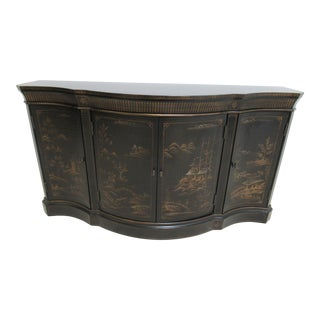 Ethan Allen Chinoiserie Serpentine Sideboard Credenza For Sale