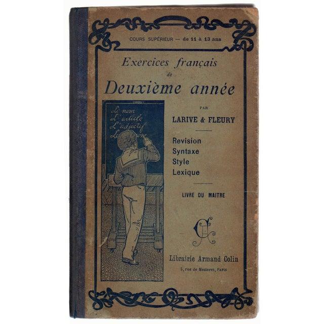 Transitional Antique Exercices Francais De Deuxieme Annee Book For Sale - Image 3 of 3