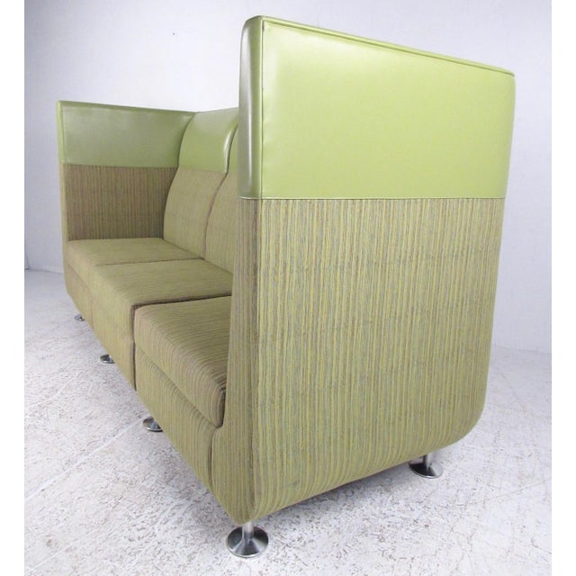 Contemporary Stylish Modern Booth Style Sofa For Sale - Image 3 of 13