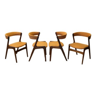 Kai Kristiansen Mid-Century Modern Z-Frame Dining Chairs - Set of Four For Sale