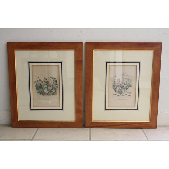 Antique French Engraving - a Pair For Sale - Image 11 of 11
