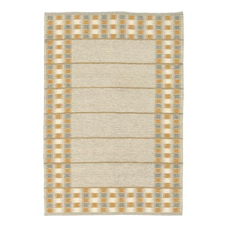 Mid 20th Century Swedish Flat Weave Two-Sided Rug For Sale