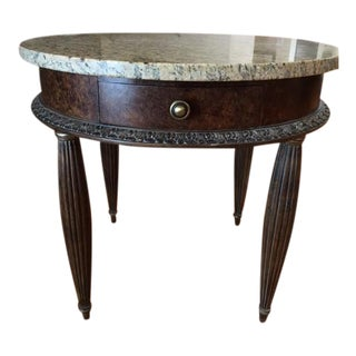 Traditional Granite Accent Table For Sale