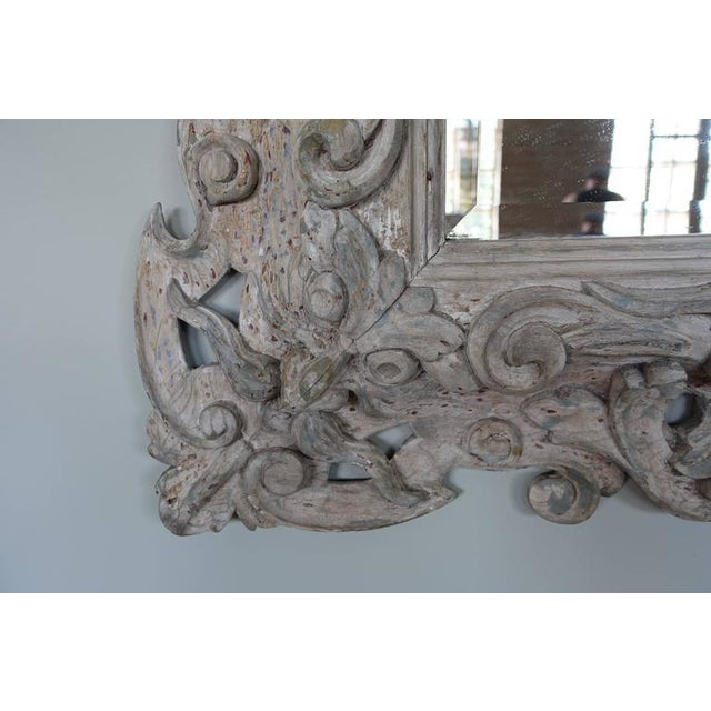 Antique Italian Carved Painted Mirror - Image 4 of 8