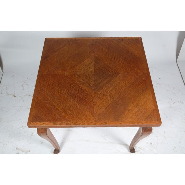 Louis Philippe-Style Square Parque Extendable Table For Sale In Nashville - Image 6 of 12