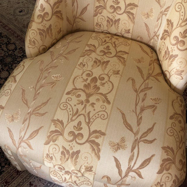 Traditional Pearson Gold Slipper Chair For Sale - Image 9 of 10