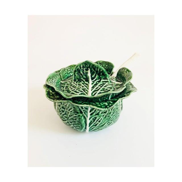 Vintage Cabbageware Lidded Serving Bowl For Sale - Image 13 of 13