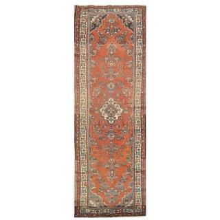"Vintage Persian Hamedan Runner Rug - 3' x 11'6"" For Sale"