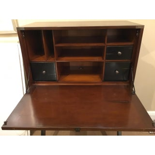 Traditional Mahogany Finished Campaign Cabinet Desk Preview