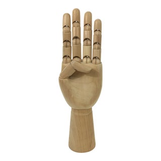 Vintage Wood Hand Figure Model For Sale