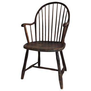 Early 19th Century New England Windsor Armchair For Sale