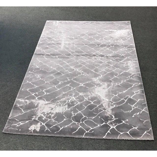 Faded Floor Design Gray Rug - 5'x8' - Image 2 of 6