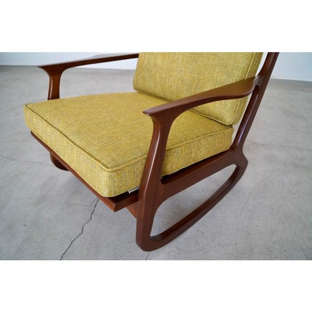 Danish Modern Ib Kofod Larsen Rocking Chair For Sale - Image 9 of 13
