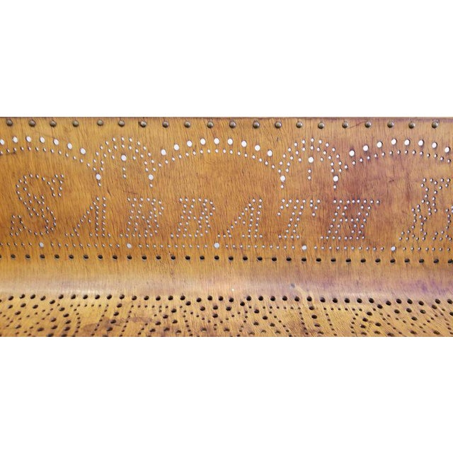 Folk Art 19th Century Children's Church Pew or Bench For Sale - Image 3 of 13