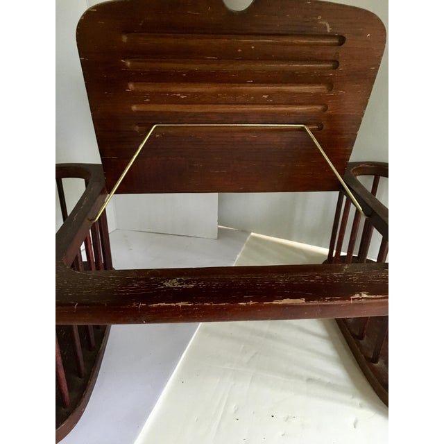 Vintage Magazine Stand With Adjustable Reading Stand For Sale - Image 5 of 11