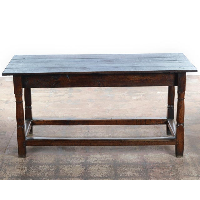 18th C. Antique English Farmhouse Table For Sale In Los Angeles - Image 6 of 8