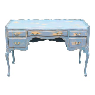 French Provincial 5-Drawers Desk For Sale