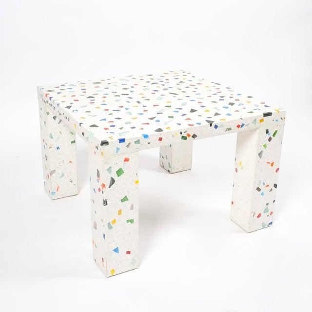 1980s Shiro Kuramata Nara Terrazzo Side Table For Sale - Image 5 of 5