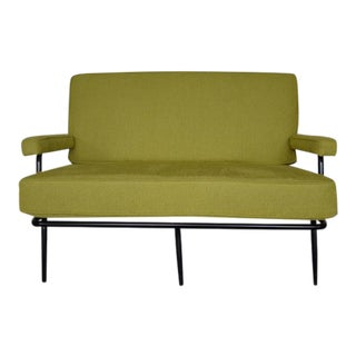 1950's Metal Upholstered Settee