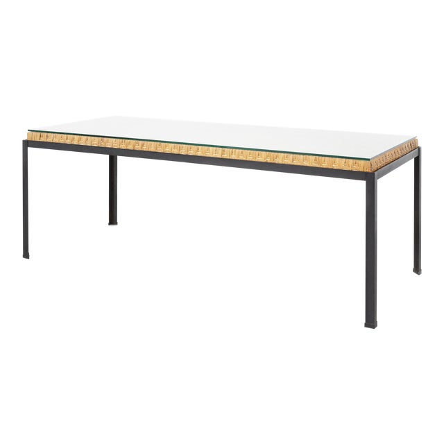 Danny Ho Fong Hand-Woven Reed Dining Table For Sale