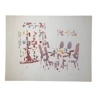 """""""Modern Dining Room"""" Pop Art Serigraph by Roger Benedetti, 1988 For Sale"""