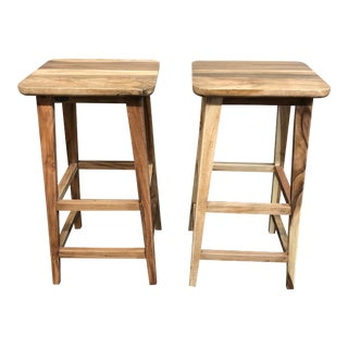 Tropical Salvage Bar Stools - A Pair For Sale