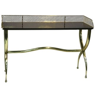 Italian Brass Console Table 20th Century Signed For Sale