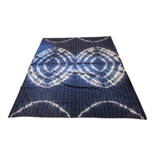 Boho Chic Tie Dyed Blue Kantha For Sale