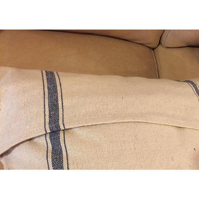 French Grain Sack Throw Pillows - Pair - Image 3 of 3