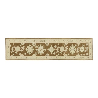 Contemporary Turkish Oushak Runner With Modern Style - 02'08 X 10'06 For Sale