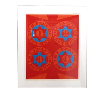 "Robert Indiana ""Purim: Four Faces of Esther Ii"" Serigraph"