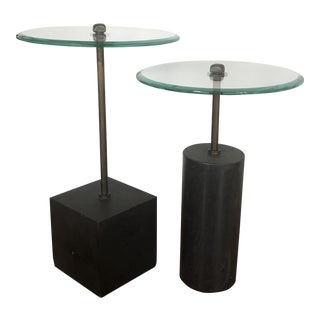 Contempoary Sculptural Nesting Tables - 2 Pieces For Sale