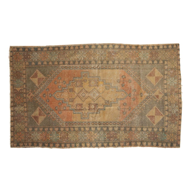 "Vintage Distressed Oushak Rug - 4'1"" x 6'7"" - Image 11 of 11"