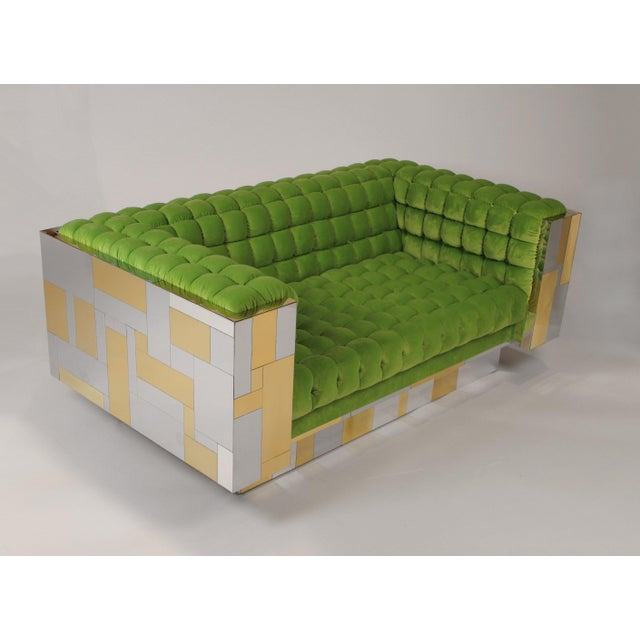 Directional Pair of Cityscape Settees Designed by Paul Evans for Directional C. 1970 For Sale - Image 4 of 11