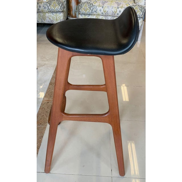 Brown Eric Buch Danish Modern Stools - A Pair For Sale - Image 8 of 13