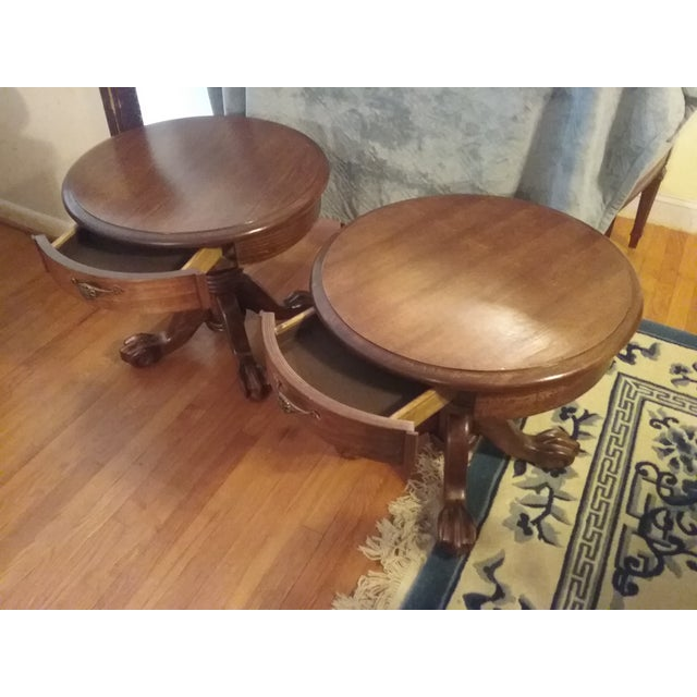 Classic Oak End Tables - Pair - Image 2 of 8