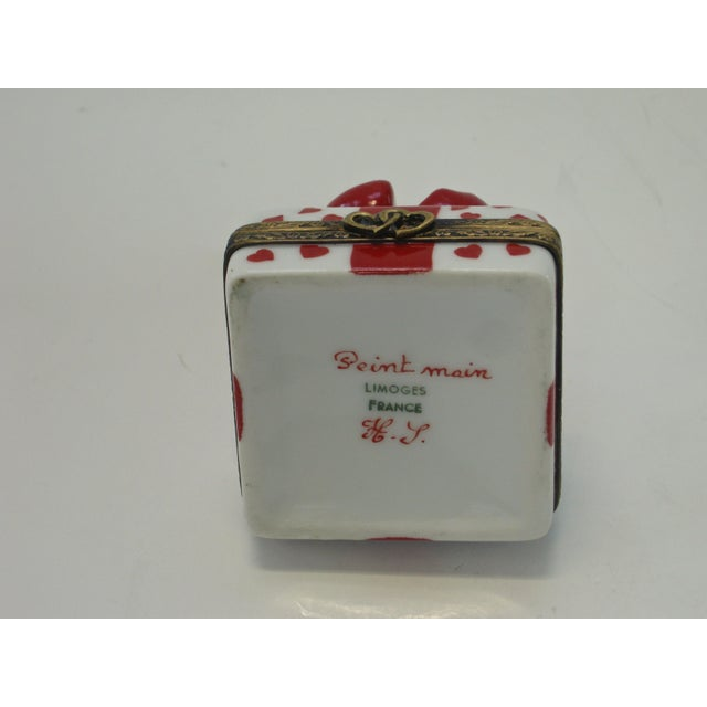 Limoges France Hand Painted Bow Box - Image 3 of 5
