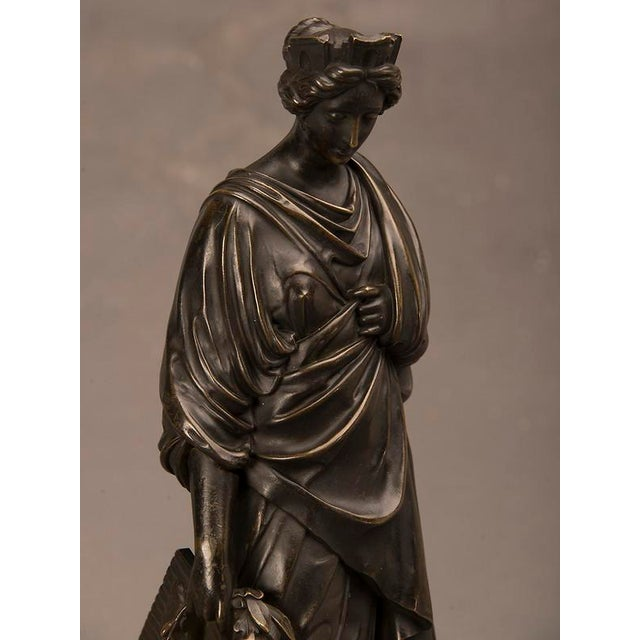 19th Century French Bronze Roman Goddess Sculpture of Tyche For Sale In Houston - Image 6 of 6