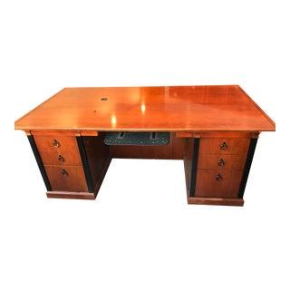 Kimball International Innsbruck Biedermeier Style Executive Desk For Sale