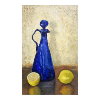 Mid Century Modern Still Life Painting For Sale