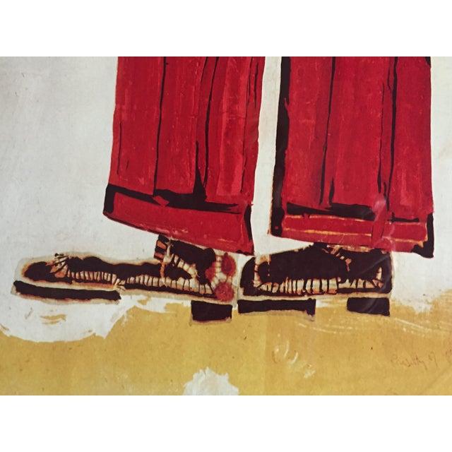"""Vintage 1973 Framed """"Hundertwasser"""" Exibition Poster For Sale - Image 4 of 11"""