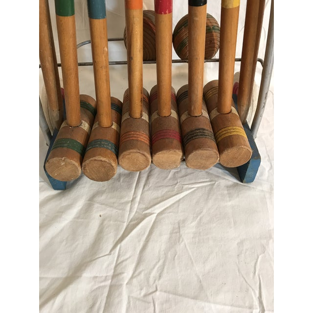 Metal 1950's Croquet Game Set For Sale - Image 7 of 11