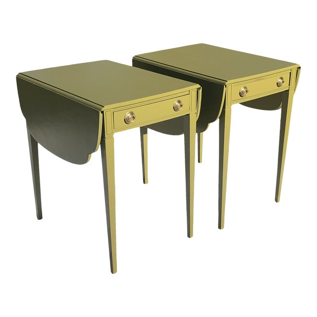 Mid 20th Century Mid Century Lacquered Pembroke Tables - a Pair For Sale