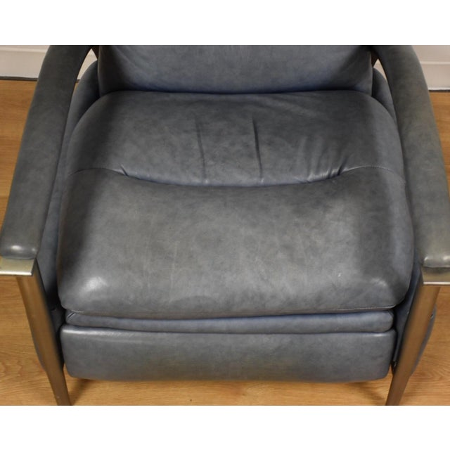 Ethan Allen Modern Leather Recliner - Image 10 of 10