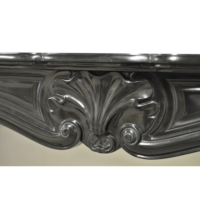 Black Marble Louis XV Fireplace Mantel, 19th Century For Sale - Image 6 of 8