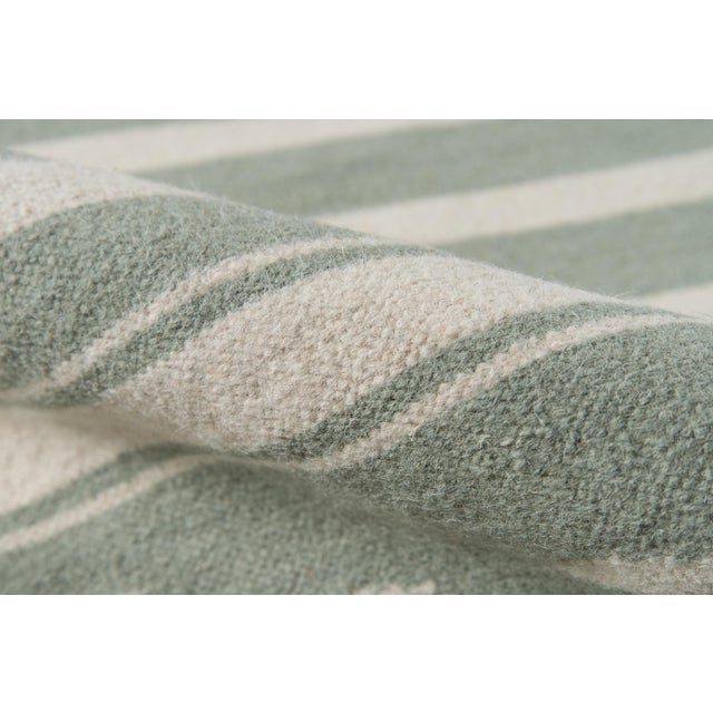 """Contemporary Erin Gates by Momeni Thompson Billings Light Green Hand Woven Wool Area Rug - 5' X 7'6"""" For Sale - Image 3 of 5"""