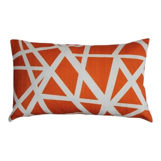 Pillow Decor Bird's Nest Orange 12x20 Pillow For Sale