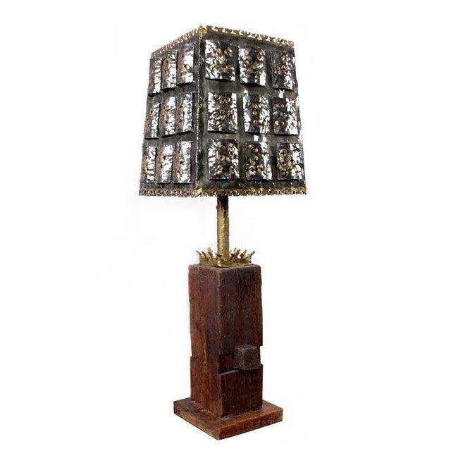 Mid-Century Brutalist Table Lamp - Image 1 of 6