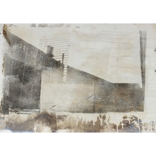 Barbara Lewis Industrial Abstract Cityscape, Photo Emulsion Print, 1977 1977 For Sale